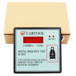 mahindra carro obd2 scanner Desconto CKS 1 pc IR Infravermelho Carro Remoto Chave Freqüência Tester Freqüência Faixa de 100-1000 MHZ Controle Remoto Digital Frequency Test Tool CARTOOL