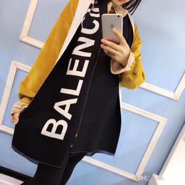 Canada Marque Designer-INS HOT Marque Femmes Doux Chaud Écharpe En Laine Designer Lady Forme Oblongue Selvedge Finition Coton Écharpe Jacquard Offre
