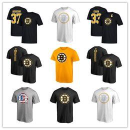 # 37 Berceron # 33 Chara Black 2019 Herren Boston Bruins Branded T-Shirt # 42 Backes Hockey Trikots Fans Tops T Günstige gedruckte Logos von Fabrikanten