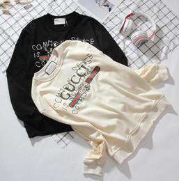 G hombres suéter deportivo Patrón de rayas clásico Estampado de graffiti Sudadera de manga larga Para hombre y para mujer Suéteres al por mayor desde fabricantes