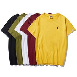 Canada Hommes T-shirt 2019 D'été De Mode Casual Respirant Anti-Shrink Broderie À Séchage Rapide T-shirt En Coton Mélange Taille M-XXXL cheap shrink cotton shirts Offre