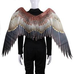 Alas de fiesta de adultos online-Partido de baile de disfraces del carnaval del carnaval de Big Eagle Wings traje de telas no tejidas animal adulto ala de Halloween Suministros MMA2299-3