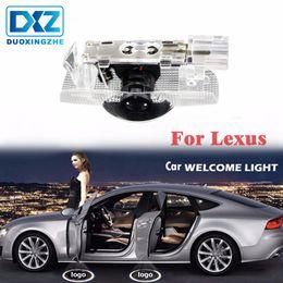lexus portas Desconto 2 Pcs Porta Do Carro LEVOU Logotipo Projetor Santo Sombra Luzes Compatíveis para Lexus GS ES250 ES250 ES350 RX270 LX450 470 570 Ls