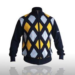 2019 casaco de lã xxl Homem Jaqueta Esportiva Mens Lã Casual Fit Cardigan De Malha Com Zíper Título Camisola De Golfe Tops Casaco Malhas desconto casaco de lã xxl