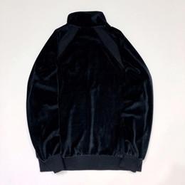 Sudadera con capucha de terciopelo online-18fw Caja Logo X Cocodrilo Terciopelo Terciopelo Sudadera Hombres Mujeres Traje de bordado Moda Casual Street Outwear Solid Hoodies Hfttjk055