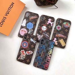 Casos de patrones online-Funda de teléfono con patrón pintado para PC de diseño superior para iPhone X Xs Max XR 8 8plus 7 7plus 6 6s Luxuty Smartphone Contraportada Casos Casos