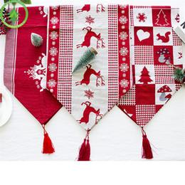 toalhas de linho de natal Desconto Toalha de Mesa de Natal de Ano Novo Toalha De Mesa De Linho À Prova de Poeira X-mas Toalha de Mesa de Jantar Em Casa Decoração Do Partido Pano De Linho DHL FJ405