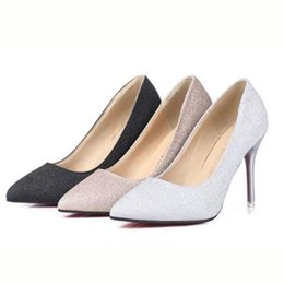 ladies bling pumps Promo Codes - Summer Spring Hot Sale Women Ladies Single Super High Heels Shoes Pumps,Shallow Mouth PU Leather Bling Pointed Toe Platform