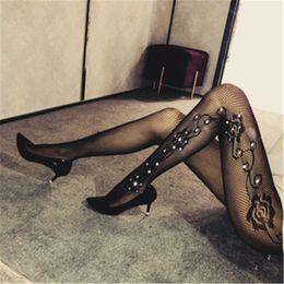 karnevalsstrümpfe Rabatt Strumpfhose mit Strass Sexy Frauen Strümpfe FishnetPantyhose Shiny Stockings Diamant-Kristall Strumpfhosen Karneval Strumpf yd015
