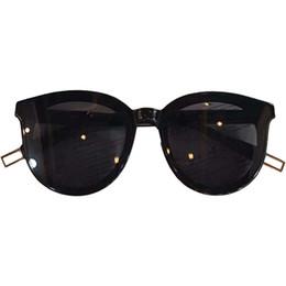 2019 gafas de sol de ojo de gato coreano Cute Sexy Cat Eye Sunglasses Mujeres Diseñador de la marca estilo coreano Retro Verano Pequeño marco Negro Ojo de gato rojo Gafas de sol para mujeres gafas de sol de ojo de gato coreano baratos