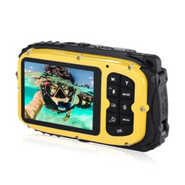 """2019 câmera de segurança escondida 16MP 2.7 """"LCD Câmera de Vídeo Digital À Prova D 'Água Mini Filmadora DV Subaquático Max 10 M Mergulho 8X Digital Zoom Face Detection"""