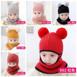 Sombrero de la bufanda del invierno de los beb/¨/¦s de las muchachas de los muchachos Sombrero caliente del casquillo del Earflap para los ni?os 6-36 meses