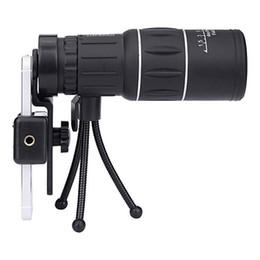 Télescope de vision nocturne mini monoculaire en Ligne-16x52 Mini télescope monoculaire 10X Prism Dual Focus Réglage du télescope de vision nocturne avec téléphone Clip trépied