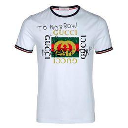 Graffiti de niños online-Graffiti rojo verde g impresión camiseta de los hombres marca de alta calidad de manga corta diseñador de Italia camiseta de lujo sports boy top tee moda camiseta