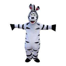 Madagascar trajes de mascote on-line-2019 Venda direta da fábrica Tamanho Adulto Em Madagascar Zebra Mascot Costume Madagascar Traje Da Mascote Marty Frete Grátis