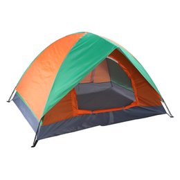 Tenda impermeabile antivento online-Tenda da campeggio per 2 persone, tenda Backpacking Dome antivento impermeabile Sunproof, perfetto per 4 stagioni auto bicicletta Camping Music Festival