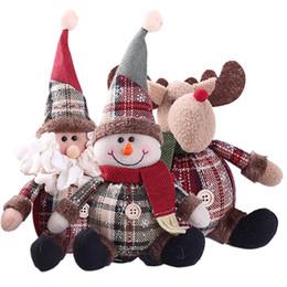 2019 kinder weihnachten ornamente Niedliche Santa Schneemann Hirsch geformt Puppe Christbaumkugel Dekoration Kinder Geschenke Puppe Weihnachtsbaum hängende Verzierung günstig kinder weihnachten ornamente