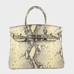 2019 genuína python bolsas Micaela HOT 2019 Womens Designer Luxury Handbag bolsas Tote Bags Marca elegante Python Cobra Genuine Leather Messenger Shoulder Bag Crossbody genuína python bolsas barato