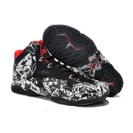 2b90e5bfc941 what the lebron 11 basketball shoes men for sale 11s MVP Christmas BHM Oreo  youth kids Generation sneakers boots with size 7 12