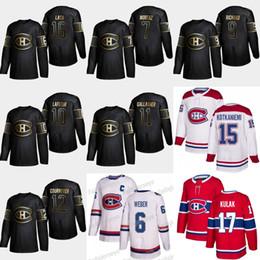 2019 montreal canadiens trikot schwarz 2019 Gold Schwarz Montreal Canadiens 11 Brendan Gallagher 16 Elmer Lach 12 Yvan Cournoyer Trikots von Howie Morenz Guy Lafleur Maurice Richard rabatt montreal canadiens trikot schwarz