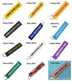acabamento atacado Desconto 14 cores Keychain REMOVER ANTES DO VÔO Cor Da Lona Bordada Opcional Chaveiro Etiqueta Da Bagagem Etiqueta Aviação Acessórios de Moda