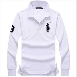 1f6728be49c Hombres camisetas de diseñador polo manga larga ropa de bordado de  cocodrilo gran caballo pequeño hombre solapa de lujo camisa de la marca  ralph lauren ...