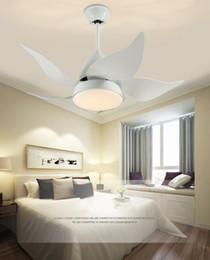 2019 deckenventilatoren modern zeitgenössisch Moderne Deckenventilatoren Zeitgenössische Eisen LED-Leuchten Wohnzimmer Esszimmer Schlafzimmer Arylic Deckenventilatoren Lampen mit Fernbedienung LLFA günstig deckenventilatoren modern zeitgenössisch