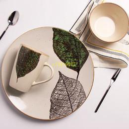 Vaisselle en céramique japonaise en Ligne-Bol de légumes à la mode ménage vaisselle en céramique peints à la main japonais