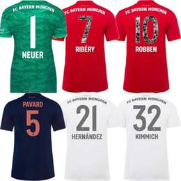 impresión de camiseta de fútbol Rebajas Bayern 2020 Special Printing Font RIBERY ROBBEN RAFINHA Camiseta de fútbol 19 20 Bayern Munich Hone LEWANDOWSKI THIAGO Camisetas de fútbol