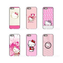 Cassa del fumetto del gattino di iphone online-Giappone Cartoon Animali Ciao rosa Kitty Pittura Custodia rigida per telefono Samsung Galaxy Note 3 4 5 8 S2 S3 S4 S5 MINI S6 bordo S7 S8 S9 Plus