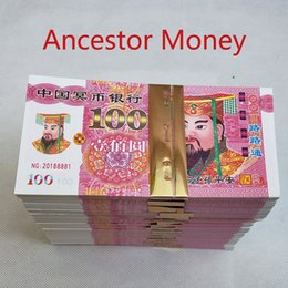 Note cinesi online-95 pezzi / set Soldi di carta cinese Joss Hell Bank Notes for Funerals The Qingming Festival e The Hungry Ghost Festival