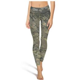 Collant verde camouflage online-Verde mimetico camo esercito Pantaloni a vita alta Yoga Donna Palestra Pantaloni Yoga Felpa Wicking Designer Calzamaglia Leggings camouflage Nero