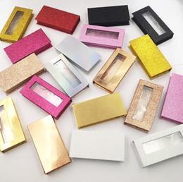 Toptan sahte kirpik ambalaj kutusu kirpik kutuları 3D sahte vizon kirpikleri uzatma şeritler glitter dikdörtgen kılıf boş cheap empty glitter box nereden boş glitter box tedarikçiler