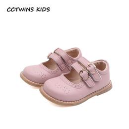 chaussures en gros de brevets pour bébés Promotion CCTWINS Enfants Chaussures 2019 Printemps Enfants Mode Party Chaussures Babys En Cuir Véritable Mary Jane Filles Marque Plat Noir GM2284