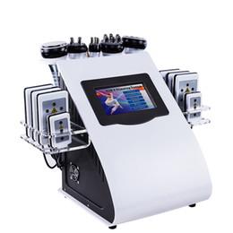 Equipamento de lipoaspiração ultra-sônica máquina de emagrecimento on-line-6 Em 1 40k Ultrasonic lipoaspiração Cavitação 8 Almofadas de Vácuo A Laser RF Cuidados Com A Pele Salon Spa Emagrecimento Máquina Equipamentos de Beleza