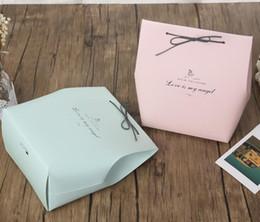 sacchetti di regalo carta diy Sconti Scatola di caramelle di carta fai-da-te Scatole di caramelle per biscotti regalo rosa e verde per la festa di compleanno di matrimoni Baby Shower
