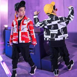 el jogger se adapta a los niños Rebajas Kids Ballroom Modern Jazz Hip Hop Ropa de baile Niñas niños Chaqueta Jogger Pantalones Trajes de baile Competición Fiesta Escenario Desgaste Traje