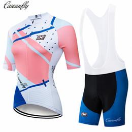 equipo de ciclismo rosa mujer mujeres Rebajas IRONANT Ciclismo Jersey para mujer Conjuntos de pareja Ropa de ciclismo de verano de manga corta Ropa de bicicleta 2019 Pro Team 2019 Nuevo Rosa
