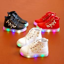 1204247b0245a chaussures led rose enfants Promotion En gros enfants chaussures filles  talons plats lacer la mode casual