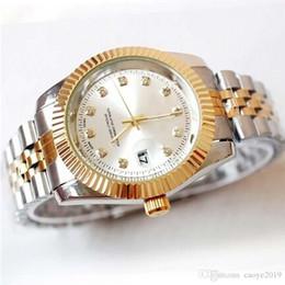 Relogio masculino diamant mens montres montres de luxe de mode fashion cadran noir calendrier bracelet en or fermoir pliant maître mâle 2019 cadeaux couples ? partir de fabricateur