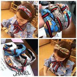 2019 acessórios florais china 2019 hot Newest Designer de cabelo de seda bandas de cabelo para mulheres marca de moda bordado headbands melhor qualidade para presente