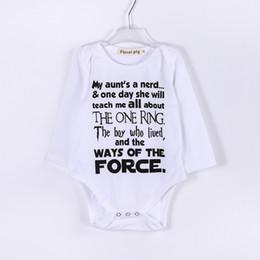 Baby Brief Overall Strampler Neugeborenes Baby Boy Kleidung Englisch Brief Drucken Weiß Langarm Pullover Kinder 48