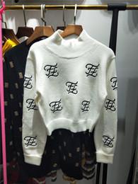 День благодарения 2019 года новый горячий осень Hign-End с круглым вырезом с длинными рукавами Панельные печати Письмо моды женские свитера от