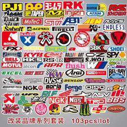 Canada 100 Pcs-Pack Voiture Moto Modification Marque Autocollants Stickers Camion Van Moto De Voiture Styling DIY Autocollants Imperméables Vinyle Stickers Offre