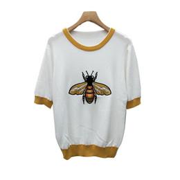 Damen T-Shirt Kurzarm Damen Kleidung T-Shirts Golden Thread Quality Strickblusen von Fabrikanten