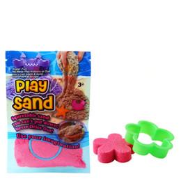 Sand spielzeug online-DIY 100 gr / beutel Spielen Sand Indoor Magie Weichen Sand Kinder Lernen Pädagogisches Sand Spielzeug Sand Spielen Spielzeug Neuheit Artikel CCA11737 200 stücke