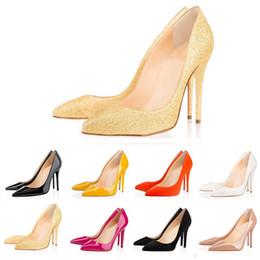 tacones de carrera Rebajas Carrera de fondo rojo Oficina Carrera ACE diseñador de lujo zapatos de mujer tacones altos 8 cm 10 cm 12 cm Nude negro de cuero en punta bombas de vestir