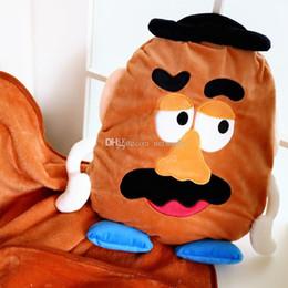 2019 cojín kawaii Súper lindo Mr. Potato kawaii cojín + aire acondicionado manta siesta cómoda equipo dos en uno para niños grandes rebajas cojín kawaii