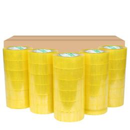 Картонная упаковка онлайн-4 рулона коробки Герметизация Clear Упаковка / доставка / коробка Tape- 2 мил- 2inch х 33 Yards Управление пленки клейкой ленты Подарочные ленты обвязки