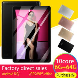 5mp camera android tablet Promo Codes - 5000mAh 10 'Android Tablets8.0 Quad Core 4GB RAM Internal 64G Camera 5MP Tablet With a Sim Card PC WiFi GPS Bluetooth 2020